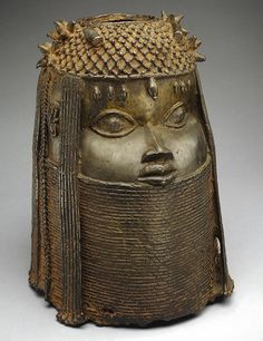 Head of an Oba (King), 18th century Nigeria; Edo peoples, court of Benin Brass…