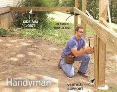Build a No-Rot, No-Maintenance Deck Deck Building Plans, Deck Plans, Building Ideas, Ground Level Deck, How To Level Ground, Deck Framing, Horse Shelter, Modern Deck, Covered Decks