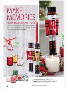 Partylite Fall / Holiday Catalog Page 4 - Nutcracker Tealight/Taper Holder