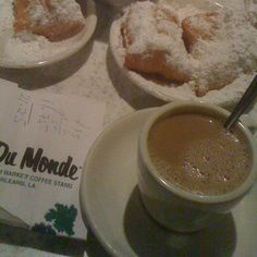 Nothing like cafe au lait & beignets from Cafe Du Monde in the French Quarter...