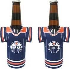 Oilers Bottle Jersey Cooler