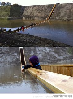 "The Moses Bridge - This incredible ""sunken"" bridge located in the Netherlands is giving visitors a unique way to access a beautiful 17th Century Dutch fort Oh The Places You'll Go, Places To Travel, Travel Destinations, Places To Visit, Pedestrian Bridge, Before I Die, Voyage Europe, One Day, Future Travel"