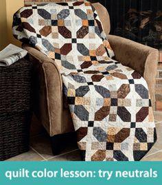 Quilt-color lesson--try neutrals