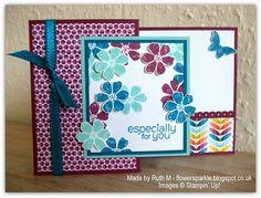 Flower Sparkle: SAB Bloomin' Marvelous Z Fold card CASEd from Heidi's pinned card http://pinterest.com/pin/177751516515203569/