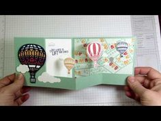 Julie's Stamping Spot -- Stampin' Up! Project Ideas by Julie Davison: VIDEO: Lift Me Up Double Z Fold Card Tutorial: Floating Hot Air Balloons