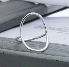 16 Gauge sterling silver open circle ring wire by BeanStock21us in a 9 for index finger