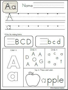 Free Alphabet Letter K Writing Practice.  Trace it.  Say it.  Color it. Find it, and write it. Like the sample page?  Buy the entire alphabet packet.  Click here!