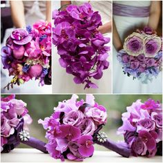 Pantone Colour of the Year, Radiant Orchid Wedding Flowers