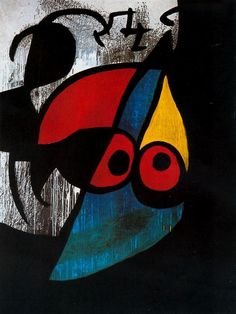 Woman, Bird, 1974. Joan Miró. Special exhibit at Sakıp Sabancı Müzesi, Istanbul. October 2014.