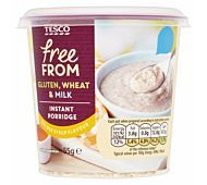 Free From Instant Porridge Oats 'Original' Porridge Oats, Gluten Free Porridge, Tesco Groceries, Golden Syrup, Baking Ingredients, Coffee Cans, Cookie Dough, Cereal