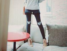heart leggings :)