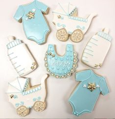 Beautiful Baby Shower, Beautiful Babies, Baby Shower Sweets, Iced Sugar Cookies, Baby Boy, Baby Shower Treats, Boy Newborn, Baby Boys, Boys