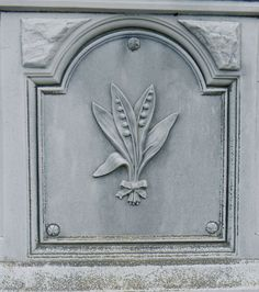 Lily of the Valley  carved tombstone