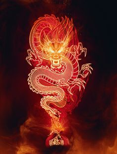 Learn How To Design A Chinese Fire Dragon In Photoshop - 123 Dragon Wallpaper Iphone, Neon Wallpaper, Aesthetic Iphone Wallpaper, Chinese Dragon Drawing, Chinese Dragon Tattoos, Chinese Dragon Symbol, Red Chinese Dragon, Tapete Gold, Muster Tattoos