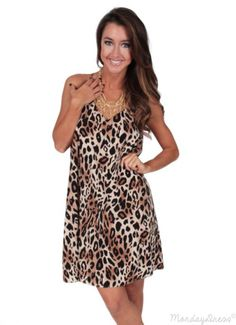 The Animal In Me Swing Dress | Monday Dress Boutique