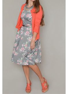Super Comfortable skater Dress, stretch Fabric, unlined. 95% Polyester, 5% Spandex Modest dresses, Cute modest dresses, Modest floral dresses, Modest fall dresses.