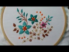 By Shasha Creative World This is an easy and beautiful embroidery,i have used cotton pearl thread balls t. Basic Embroidery Stitches, Hand Embroidery, French Knots, Satin Stitch, Needle And Thread, Flower Patterns, Mobiles, Elsa, Make It Yourself