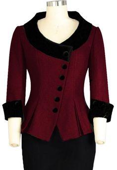 Retro Velvet Collar Jacket. Chic Star Design by Amber Middaugh