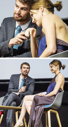 Theo James and Shailene Woodley at the Insurgent Copenhagen Premiere, 12/3/15.