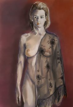 Model with black shawl - pastel (2020) Shawl, Game Of Thrones Characters, My Arts, Pastel, Model, Painting, Black, Cake