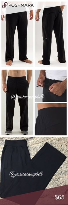 Lululemon {Men's} Kung Fu Pant 2.0 *Luon Blk These pants were designed to keep you comfortable in the gym or kicking around town. With moisture wicking, four way stretch soft luon fabric. Breathable. Plenty of pockets to stash your stuff. Excellent condition. No flaws. Worn once. All reasonable offers are welcome! Please make all offers through the offer button🤗 lululemon athletica Pants