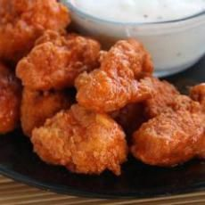 Baked Buffalo Wings.. Instead of wings, I use thin-cut chicken breasts and cut them into tenders. I make these so often I practically know the recipe by heart!