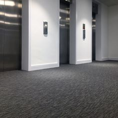 The metallic accent in our Balance carpet tile works perfectly in this refurb at Hollywood House in Woking for Rougemont. Hollywood House, Carpet Tiles, Tile Design, Metallic, Carpet Squares