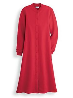 Fleece snap-front robe from Intimates by Vicki Wayne  a33640f8d