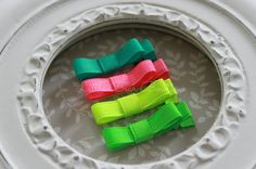 Baby Hair Clip - Neon Hair Clips Tuxedo Bow - Alligator Barrettes for Babies Toddlers Girls - Non Slip Hair Clip - Set of 4 on Etsy, $5.00