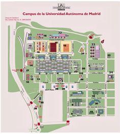 Plano de la Universidad Autonoma de Madrid