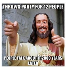 Buddy Christ.. Only slightly blasphemous.