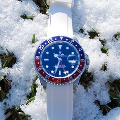 Everest Rubber replacement watch band for Rolex GMT