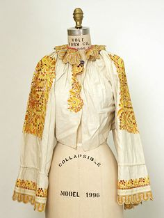 Hungarian linen blouse, 19th c, The Metropolitan Museum of Art