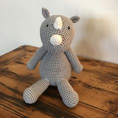 Ravelry: Rhino Amigurumi pattern by Lianne Godfrey - In Stitches