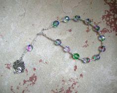 Euphrosyne Pocket Prayer Beads: Greek Goddess, Grace (Charis, Kharis) of Merriment and Good Cheer by HearthfireHandworks on Etsy