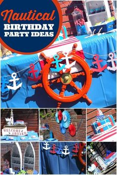 Boy's Nautical Birthday Party Ideas