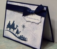 Handmade Christmas Card Stampin Up COME To BETHLEHEM - Wise Men Silho…
