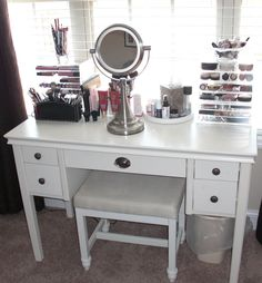 I want a makeup vanity since I'm exploring makeup and skin care and hair care