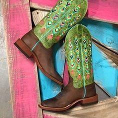 Bright, festive, and fun! Crushin' on these Macie Bean Womens Fiesta No Siesta Cowboy Boots