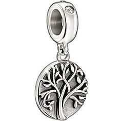 Material: Sterling Silver, Crystals and Stones The concept of the Tree of Life is used in philosophy, religion, science, and mythology. A powerful and beautiful symbol that crosses borders and generations is celebrated with Chamilia's Tree of Life.