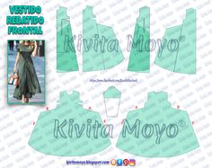 Dress Sewing Patterns, Clothing Patterns, Sewing Clothes, Barbie Clothes, Girls Skirt Tutorial, Diy Vetement, Diy Clothes Videos, Fashion Sewing, Pattern Blocks