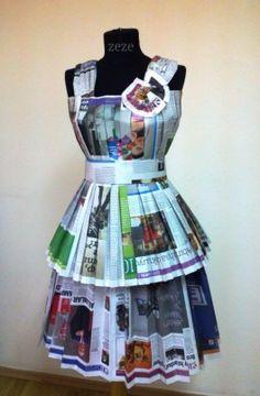 Eski gazetelerden elbise - 2013 yılbaşı yarışması