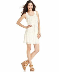 Style&co. Tiered Lace A-Line Dress
