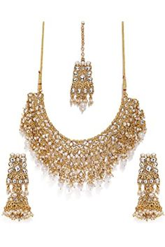 Buy Zaveri Pearls Gold Tone Traditional Temple Choker Necklace Set For Women-ZPFK8983 at Amazon.in Diamond Choker Necklace, Necklace Set, Bridal Jewelry Sets, Wedding Jewelry, Bridal Jewellery, Gold Jewellery, Fashion Jewellery Online, Temple Jewellery, Pearl Jewelry