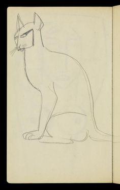Henri Gaudier-Brzeska, Henri Gaudier-Brzeska 'Sketch of a cat', [c.1913–14]