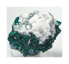 Dioptase Emerald Green with Blue Plancheite by FenderMinerals