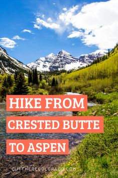Experience the beauty of Colorado with a day trek from Crested Butte to Aspen. Hike wildflower terrain from Crested Butte all the way to the iconic Maroon Hiking Spots, Hiking Trails, Colorado Hiking, Aspen Colorado, Rocky Mountain National Park, National Forest, Crested Butte Colorado, West Coast Trail, Utah Hikes