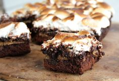 S'mores are naturally rich and gooey, but when you put them in a crockpot - wow! This warm, chocolatey brownie is topped with graham crackers and toasted marshmallows. Put it all in the crockpot, let it cook and 2 hours later, viola!