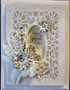 Hello bloggers! This one screams wedding or anniversary to me, what do you think? I just love the Austrian Background so I have used it loads of times in different ways. For today's card, I covered