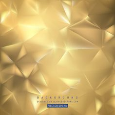 Gold Polygon Background Template #freevectors